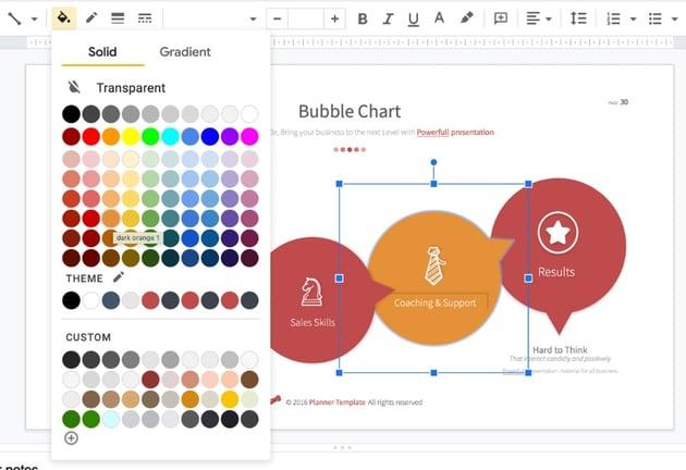 Google Slides templates for students