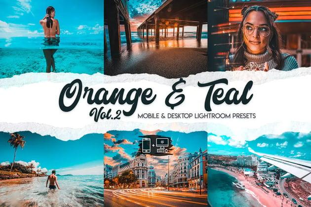Orange teal lightroom presets vol 2