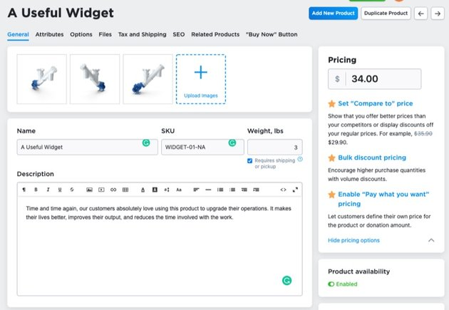Ecwid setup product online shop
