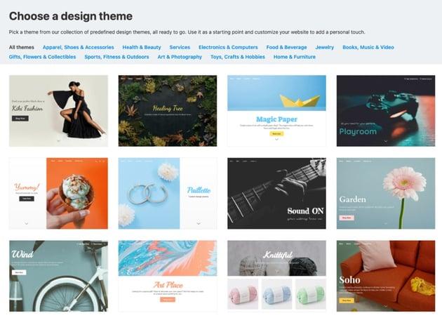 Set design theme Ecwid shop