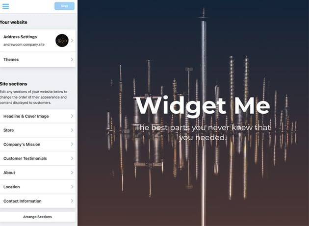 Widget site