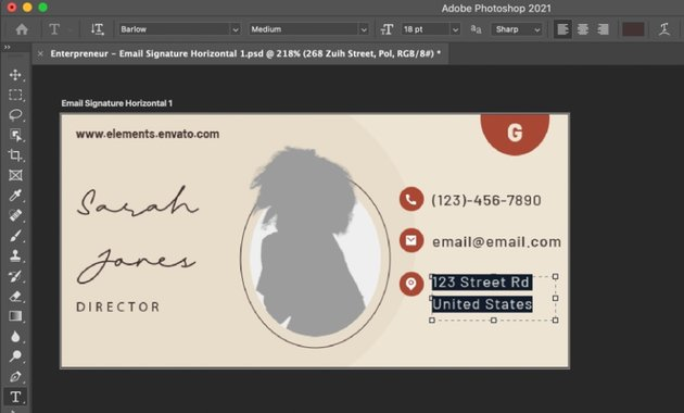 Details innovative email signature updated
