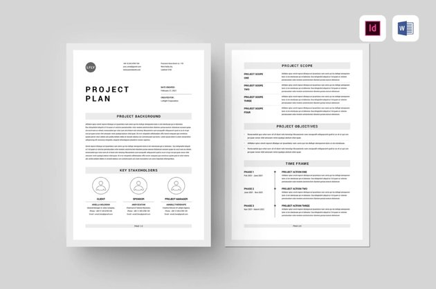 Project plan flow chart example