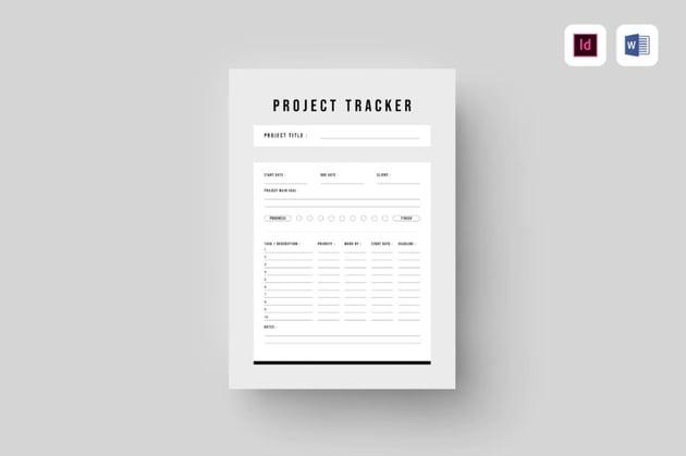 Project tracker process flow diagram