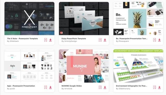 Professional presentation gallery Elements
