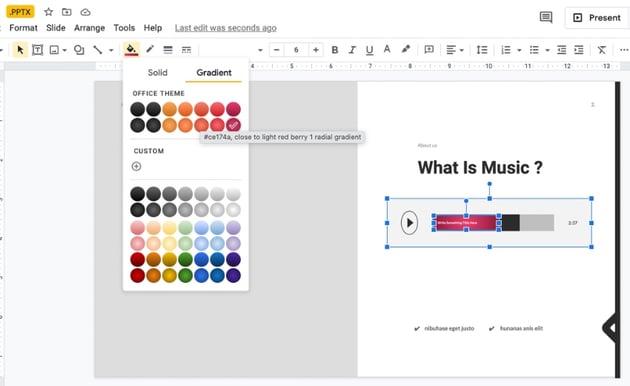 Colorful music presentation template
