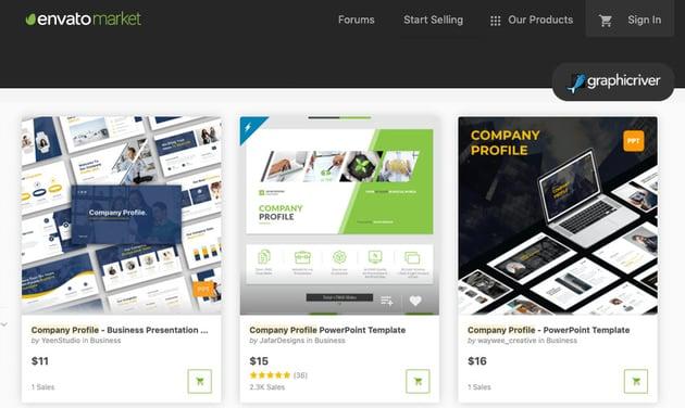GraphicRiver company profile design PPT