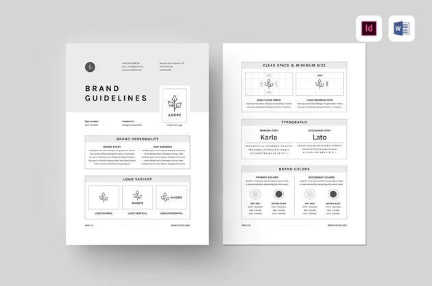 Brand guidelines contract format Word