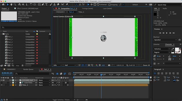 Download intro template After Effect