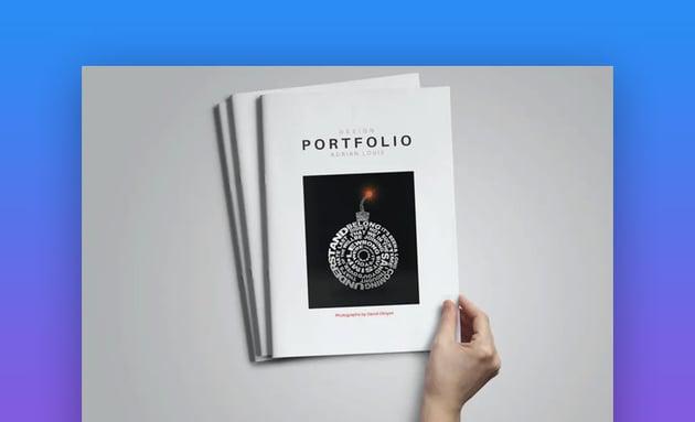 InDesign to Word Portfolio template