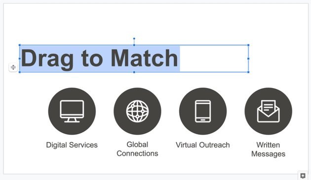 Custom text how to make Google Slides interactive