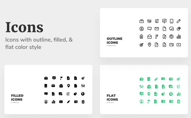 icons in minimilis google slides theme templates