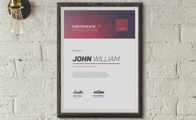 print ready editable certificate template word