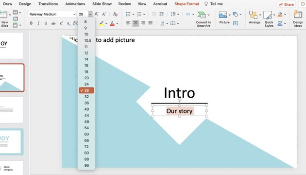 Font effects how to turn on design ideas in PowerPoint