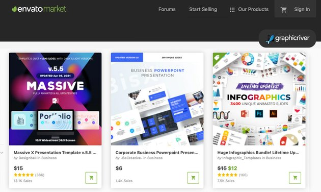 GraphicRiver how to get design ideas on PowerPoint