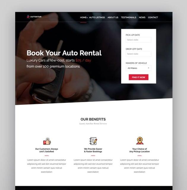 Autostar - Car Rental Theme