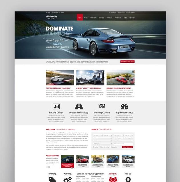 Automotive Car Dealership Business WordPress Theme