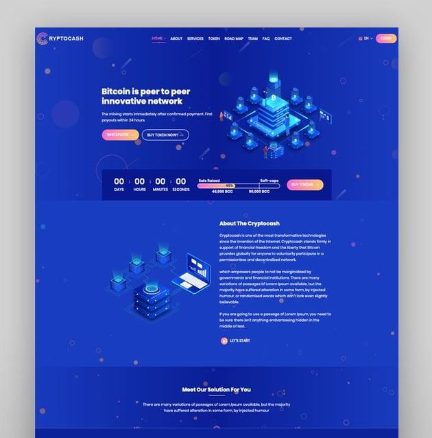 Cryptonite - Blockchain and Cryptocurrencies WordPress Theme