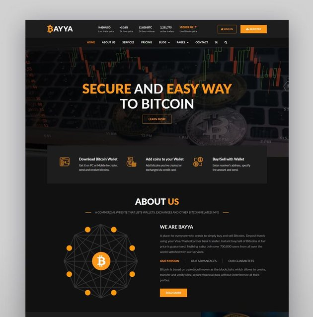 Blokco - ICO Cryptocurrency  Consulting Business WordPress Theme