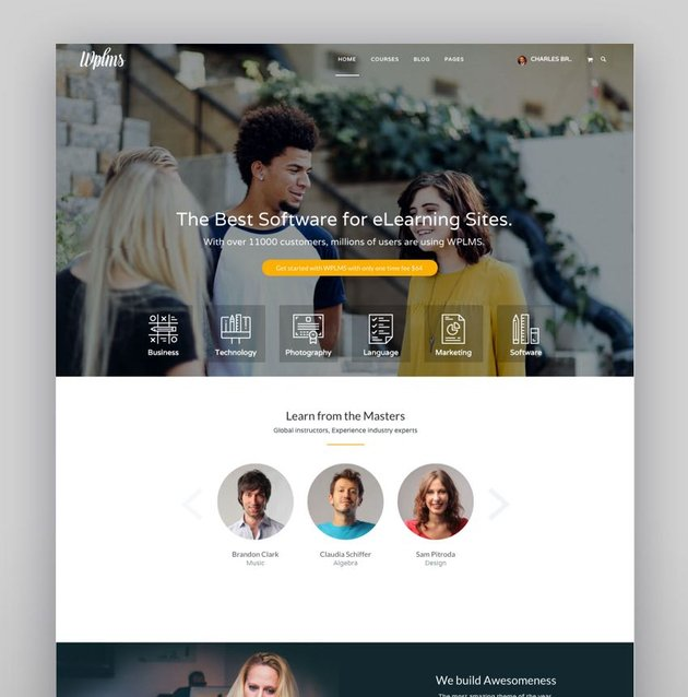 WPLMS Education Visual Composer Page Templates