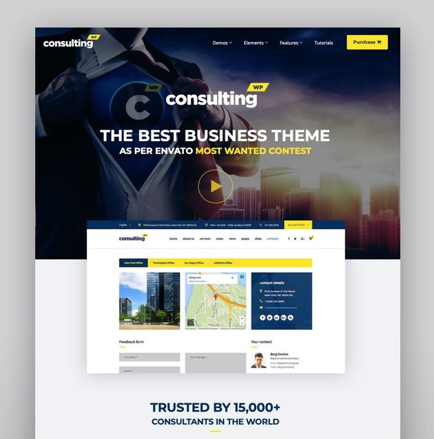 Consulting Create WordPress Theme With Visual Composer