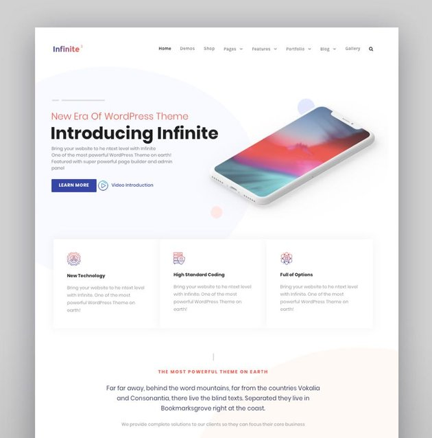 Infinite - Multipurpose WordPress Theme