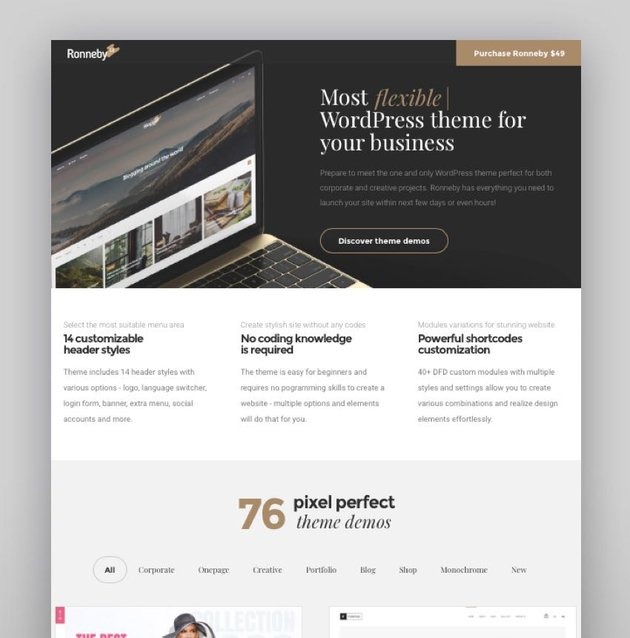 Ronneby - High-Performance WordPress Theme
