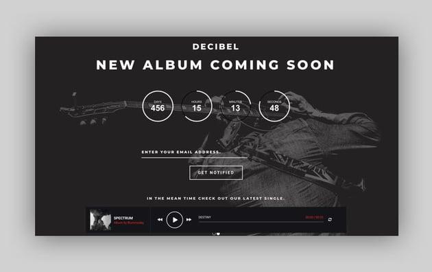 Dezibel - Music Band  Musician WordPress Theme