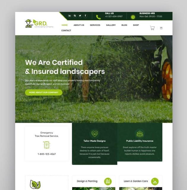 GRD - Gardening and Landscaping WordPress Theme