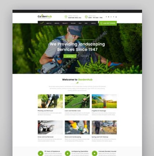 Garden HUB - Lawn  Landscaping WordPress Theme