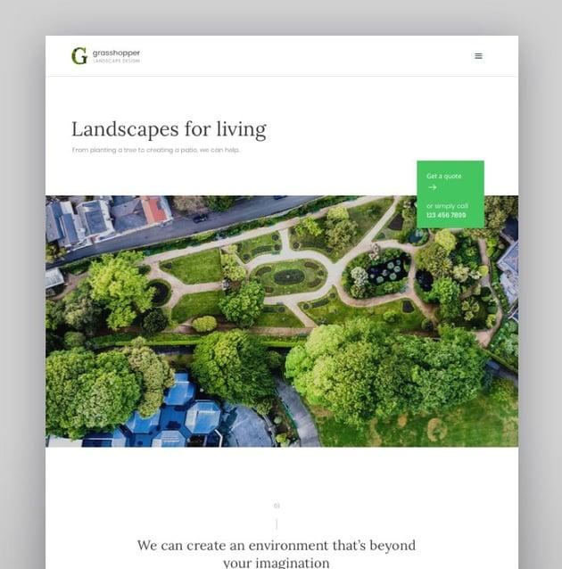 Grasshopper - Landscape Design and Gardening Services WP Theme