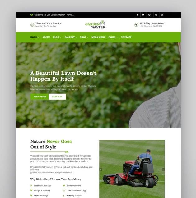 Garden Master - Gardening Lawn  Landscaping Multi-Purpose WordPress Theme