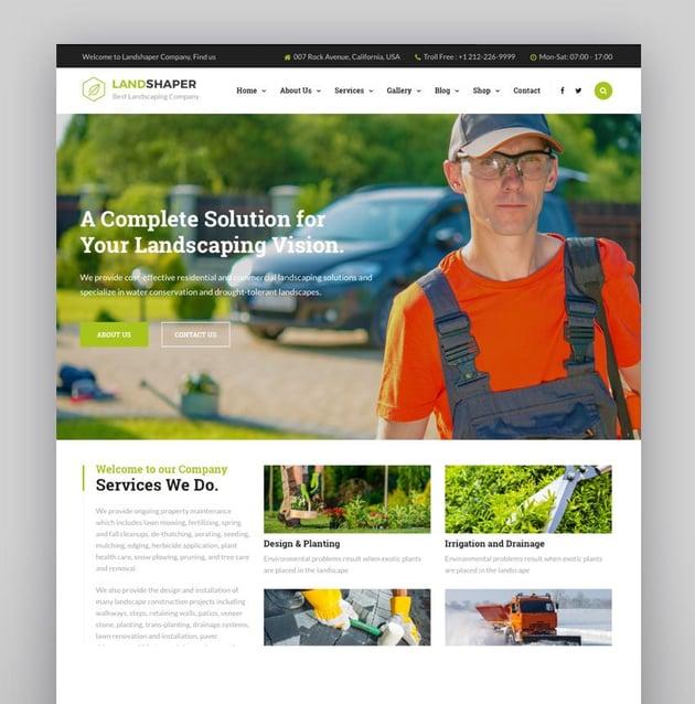 The Landshaper - Gardening  Landscaping WordPress Theme