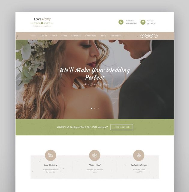 Love Story - A Beautiful Wedding and Event Planner WordPress Theme