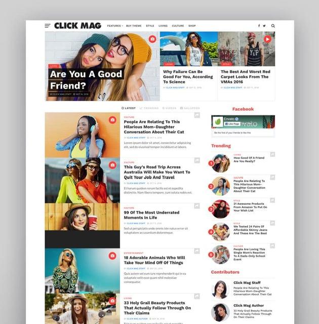 Click Mag - Viral WordPress News MagazineBlog Theme