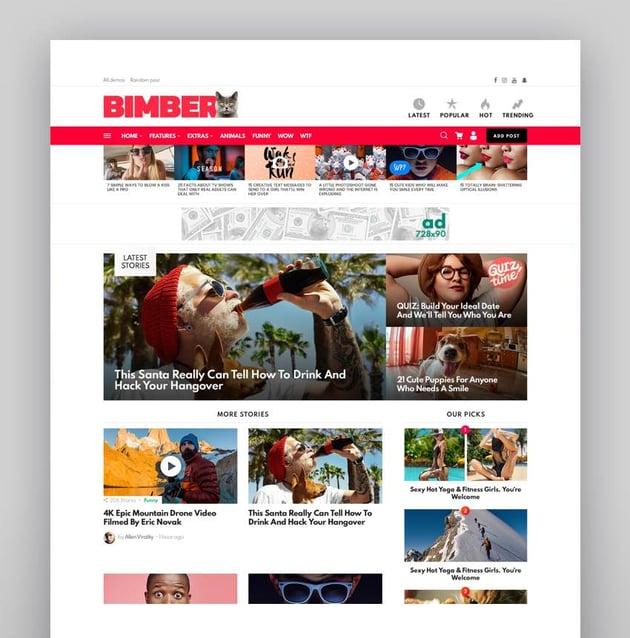 Bimber - Viral Magazine WordPress Theme