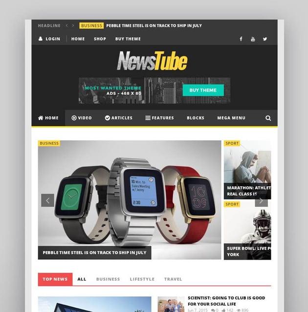 NewsTube - Magazine Blog Video
