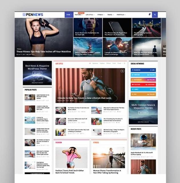 PenNews - Multi-Purpose AMP WordPress Theme