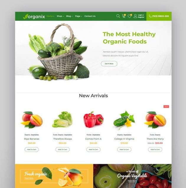 Organix - Organic Food WooCommerce WordPress Theme