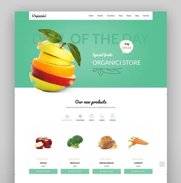 Organici - Organic Store  Bakery WooCommerce Theme