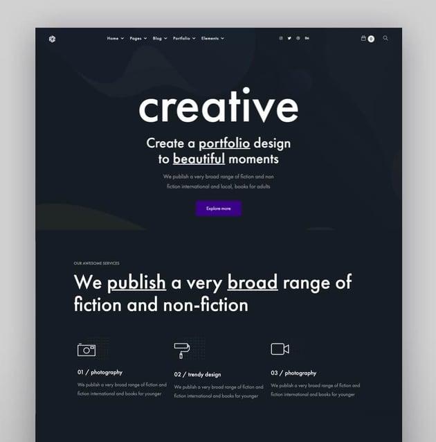 Tracem - Elementor Agency  Portfolio WordPress Theme