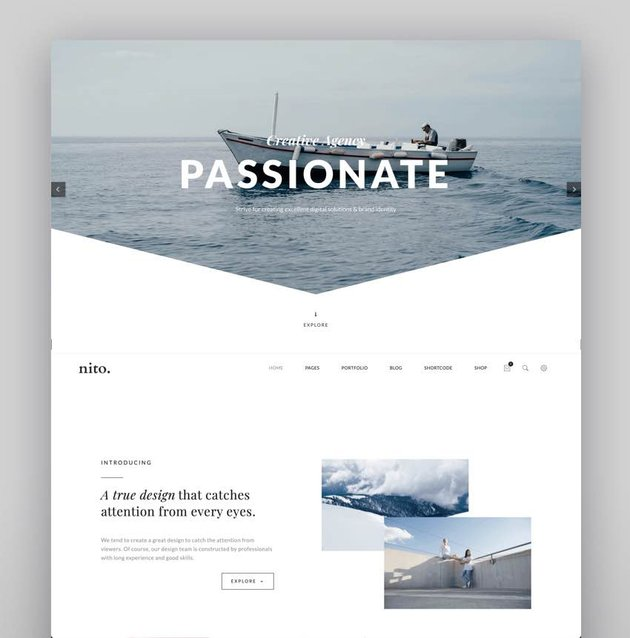 Nito - A Clean  Minimal Multi-purpose WordPress Theme