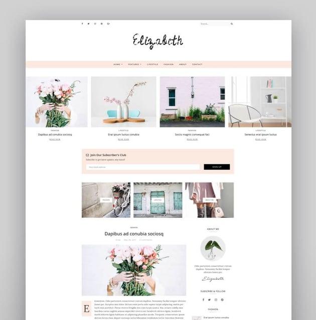 Elizabeth - A Responsive WordPress Blog Theme
