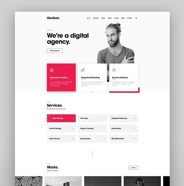 Gentium  A Creative Digital Agency WordPress Theme