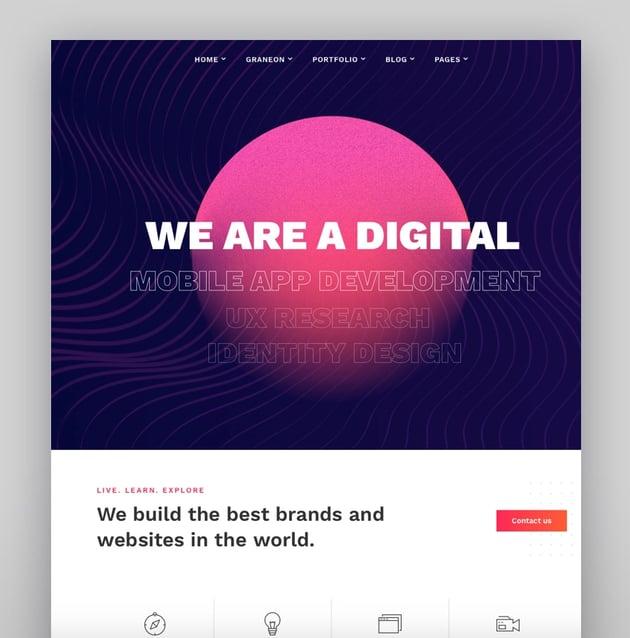 Graneon - Creative Artist Portfolio WordPress theme
