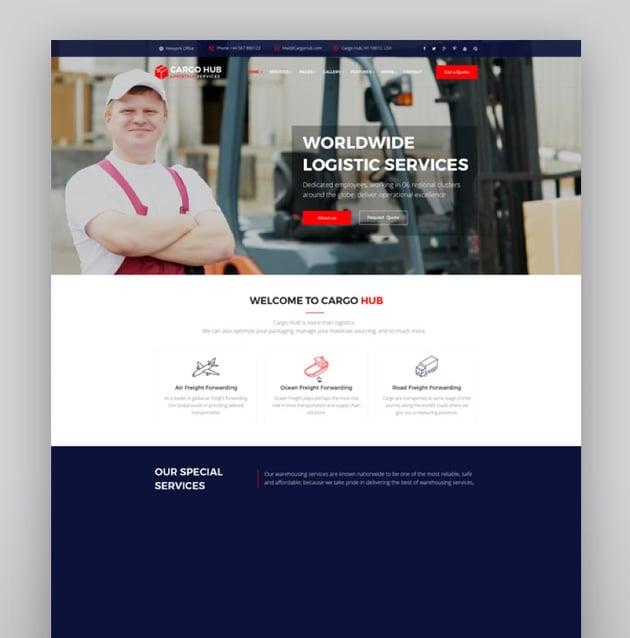 Cargo HUB - Transportation and Logistics WordPress Theme