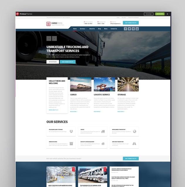CargoPress - Logistic Warehouse Transport WP