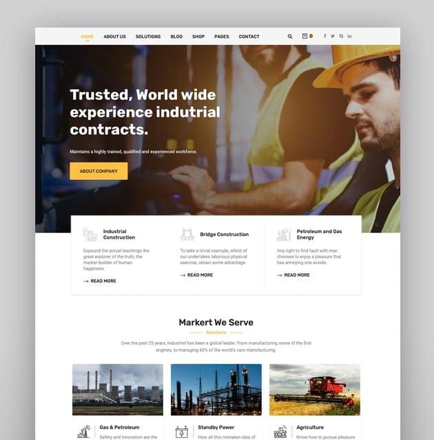 Enduz - Factory and Industry WordPress Theme