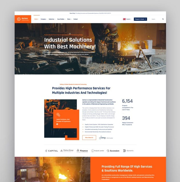 Axima - Factory and Industry WordPress Theme