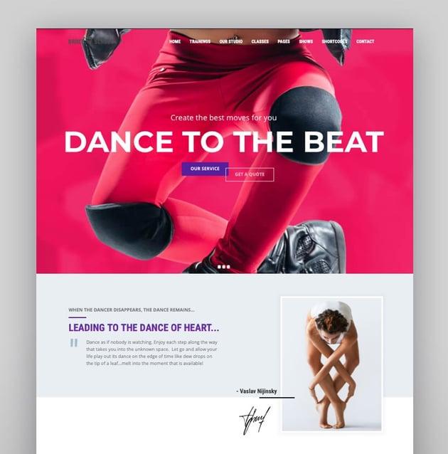 Dance Studio - Music Art School Theme